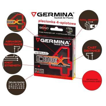 Pintas valas Germina CODE 4  0,14mm / 12 kg